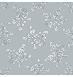 Floral swirls pattern vector image vector image