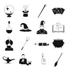 Magic simple icons set vector image