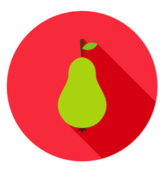 pear circle icon vector image vector image