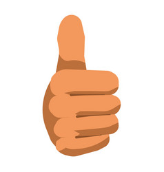 thumb up hand gesture sign flat isolated vector image