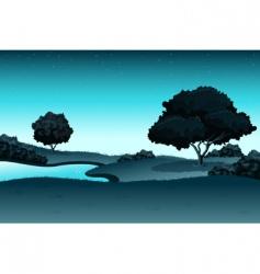 amazing landscape vector image vector image