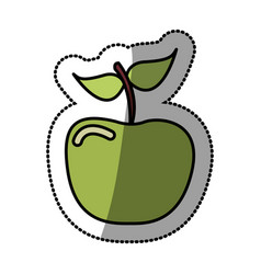 green apple fruit icon stock vector image