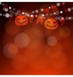Halloween or dia de los muertos greeting card vector
