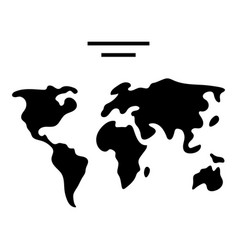 map world icon black sign on vector image