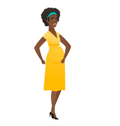 african-american angry pregnant woman screaming vector image