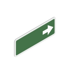 Arrow right road sign icon isometric 3d style vector image vector image