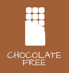 chocolate free label food intolerance symbols vector image