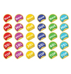 color stickers vector image vector image