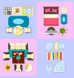 interior set of living space vector image vector image