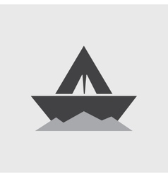 paper boat - icon vector image