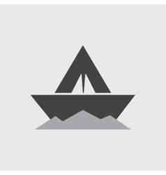 paper boat - icon vector image vector image