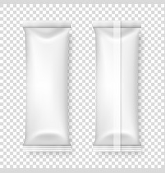 3d realistic blank white packaging icon set vector