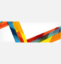 abstract colorful lines modern geometric vector image