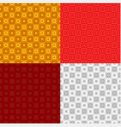 Abstract repeating square pattern background set vector