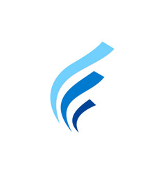 Abstract wave business finance logo vector