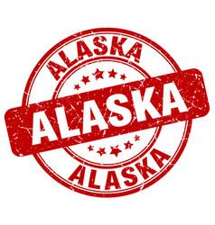 Alaska stamp vector