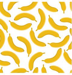 banana seamless pattern on white background vector image
