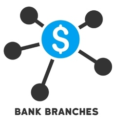 Bank Branches Icon With Caption vector