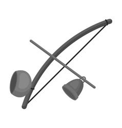 Berimbau icon in monochrome style isolated on vector