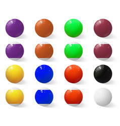 billiard pool or snooker balls without numbers vector image