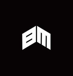 Bm logo monogram modern design template vector