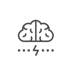 brainstorm line icon vector image