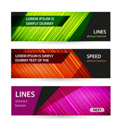bright banner with light lines on dark background vector image