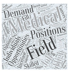 Careers in medical field Word Cloud Concept vector