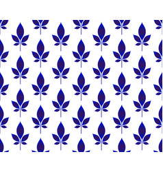 ceramic leaves pattern vector image