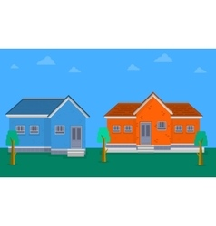 Collection of house flat vector