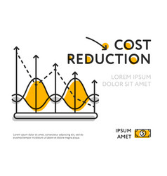 Colorful template representing cost reduction vector