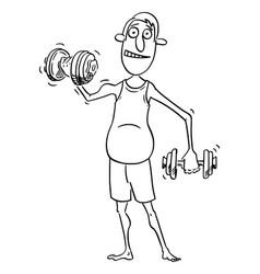 Comic cartoon average middle age man vector