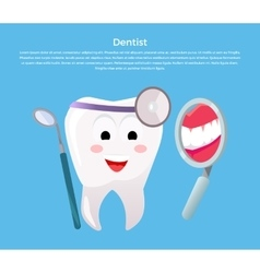 Concept of Dentistry Banner Poster vector