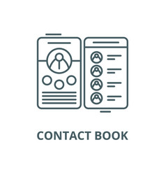 contact book line icon linear concept vector image