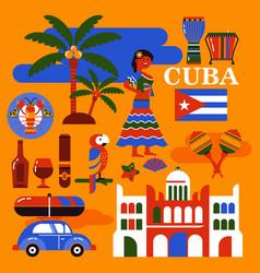 Cuba travel vector