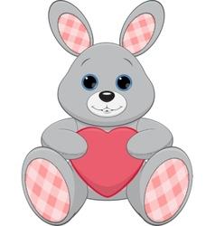 Cute plush bunny vector image