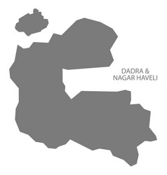 dadra and nagar haveli india map grey vector image
