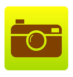 digital photo camera sign brown icon at vector image