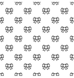 festive ribbon bow pattern seamless vector image