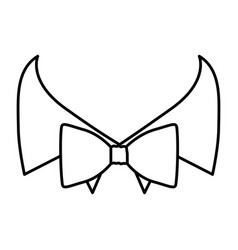 Figure sticker bow tie with shirt icon vector
