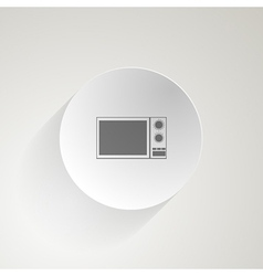 Flat icon for microwave vector