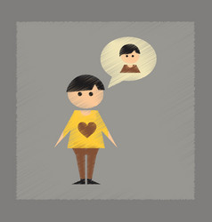 Flat shading style icon gay lovers vector