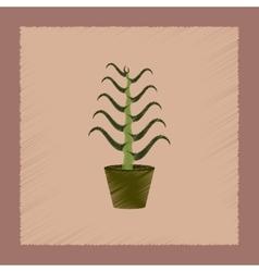 flat shading style plant Aloe vector image