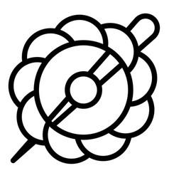 Flower barrette icon outline style vector