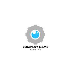 gear eye logo template design vector image