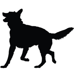 German shepherd silhouette vector