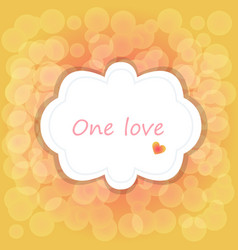 greeting card of hearts vector image