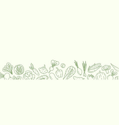 horizontal background with with various vegetables vector image