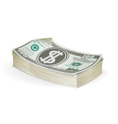 hundred dollar bills vector image