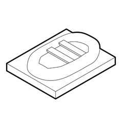 Inflatable boat icon outline style vector